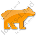 Bear Plain Orange Icon, PNG/ICO, 128x128