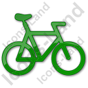 Bicycle Plain Green Icon, PNG/ICO, 128x128