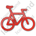 Bicycle Plain Red Icon