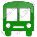 Bus Station Plain Green Icon