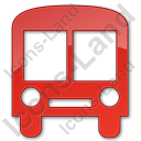 Bus Station Plain Red Icon, PNG/ICO, 128x128