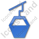 Cable Car Plain Blue Icon, PNG/ICO, 128x128
