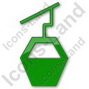 Cable Car Plain Green Icon, PNG/ICO, 128x128