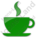 Cafe Plain Green Icon, PNG/ICO, 128x128
