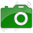 Camera Plain Green Icon