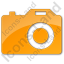 Camera Plain Orange Icon