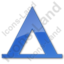 Camping Tipi Plain Blue Icon