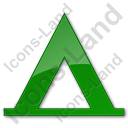 Camping Tipi Plain Green Icon, PNG/ICO, 128x128