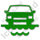 Car Ferry Plain Green Icon