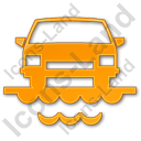 Car Ferry Plain Orange Icon