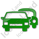 Car Rental Service Plain Green Icon, PNG/ICO, 128x128