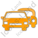 Car Rental Service Plain Orange Icon, PNG/ICO, 128x128