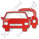 Car Rental Service Plain Red Icon, PNG/ICO, 128x128