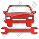Car Repair Plain Red Icon, PNG/ICO, 128x128