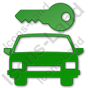 Car Safety Plain Green Icon, PNG/ICO, 128x128
