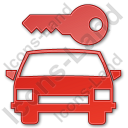 Car Safety Plain Red Icon, PNG/ICO, 128x128