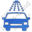 Car Wash Plain Blue Icon, PNG/ICO, 128x128
