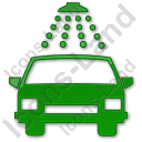 Car Wash Plain Green Icon, PNG/ICO, 128x128