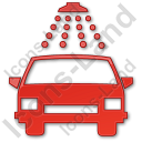 Car Wash Plain Red Icon, PNG/ICO, 128x128