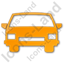 Car Plain Orange Icon, PNG/ICO, 128x128