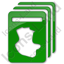 Cards Plain Green Icon, PNG/ICO, 128x128