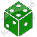 Casino Dice Plain Green Icon