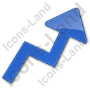 Chart Arrow Plain Blue Icon