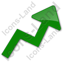 Chart Arrow Plain Green Icon