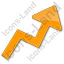 Chart Arrow Plain Orange Icon