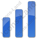 Chart Bars Plain Blue Icon, PNG/ICO, 128x128