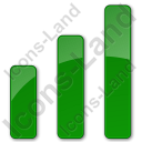 Chart Bars Plain Green Icon