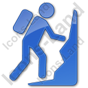 Climbing Plain Blue Icon