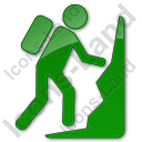 Climbing Plain Green Icon