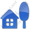 Cottage Plain Blue Icon, PNG/ICO, 128x128