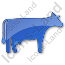 Cow Plain Blue Icon