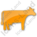 Cow Plain Orange Icon