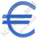 Currency Euro Plain Blue Icon