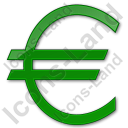 Currency Euro Plain Green Icon
