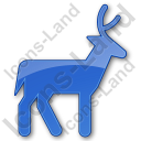 Deer Plain Blue Icon