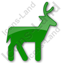 Deer Plain Green Icon