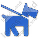 Dog Plain Blue Icon
