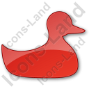 Duck Plain Red Icon