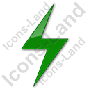Electricity Sign Plain Green Icon