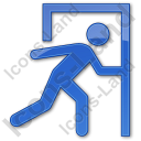 Exit Plain Blue Icon