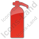 Fire Extinguisher Plain Red Icon, PNG/ICO, 128x128