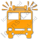 Fire Station Plain Orange Icon, PNG/ICO, 128x128