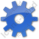 Gear Plain Blue Icon