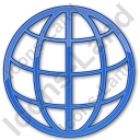 Globe Plain Blue Icon