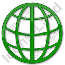 Globe Plain Green Icon