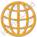 Globe Plain Orange Icon